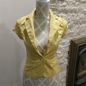 Costa Blanca yellow polka dot blazer